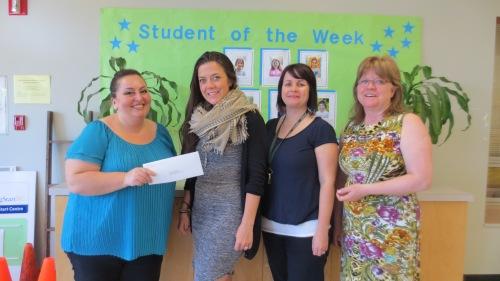 901 CPF Boundary Bingo - CPF Cheque Presentation Photo 01 - Svetlana Sobelman, Laura Hall, Mia Mavor & Susan Owens